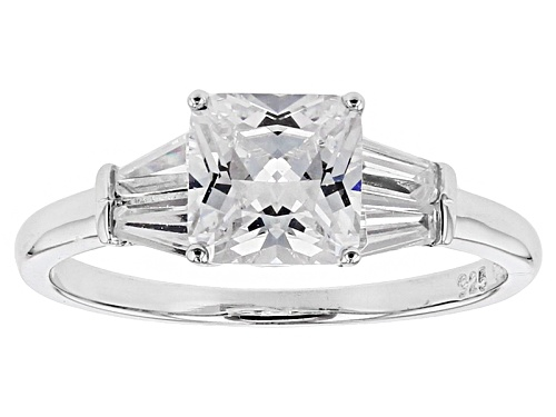 Photo of Bella Luce ® 2.98ctw Diamond Simulant Rhodium Over Sterling Silver Ring (2.15ctw Dew) - Size 8