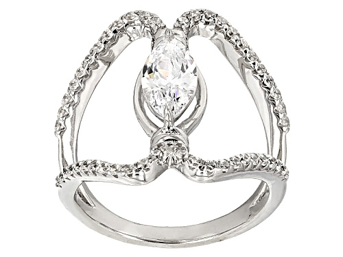 Photo of Bella Luce ® 2.56ctw Diamond Simulant Rhodium Over Sterling Silver Ring (1.43ctw Dew) - Size 7