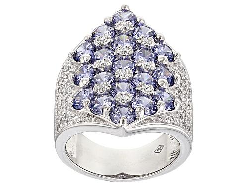Photo of Bella Luce ® 10.11ctw Tanzanite And White Diamond Simulants Rhodium Over Silver Ring (6.00ctw Dew) - Size 7