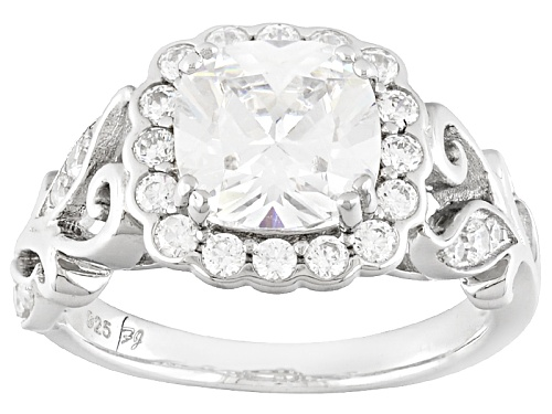 Photo of Bella Luce ® 1.77ctw Diamond Simulant Rhodium Over Sterling Silver Ring (.95ctw Dew) - Size 7