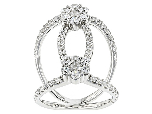 Photo of Bella Luce ® 1.10ctw Diamond Simulant Rhodium Over Sterling Silver Ring (1.08ctw Dew) - Size 5