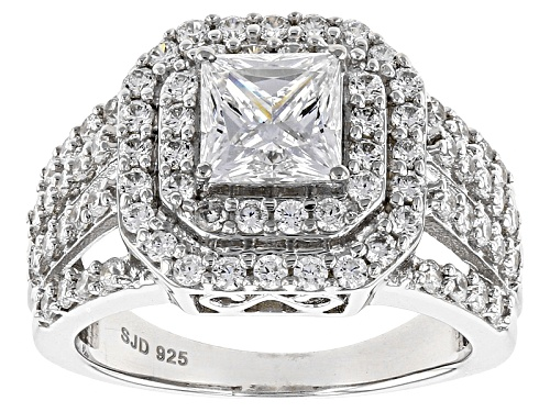Photo of Bella Luce ® 4.26ctw Diamond Simulant Rhodium Over Sterling Silver Ring (3.52ctw Dew) - Size 11