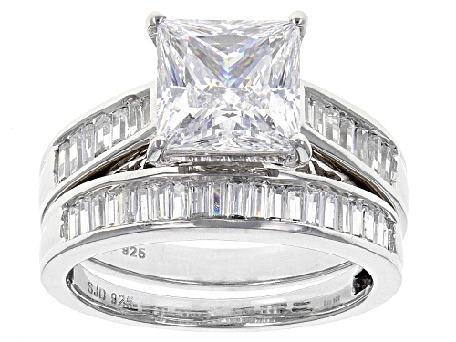 Photo of Bella Luce ® 6.39ctw Diamond Simulant Rhodium Over Sterling Silver Ring With Band (4.66ctw Dew) - Size 11