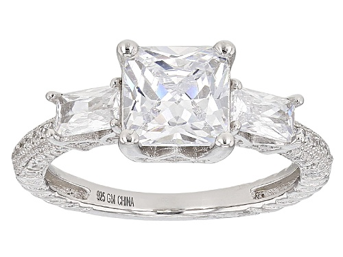 Photo of Bella Luce ® 4.85ctw Rhodium Over Sterling Silver Ring (2.80ctw Dew) - Size 8