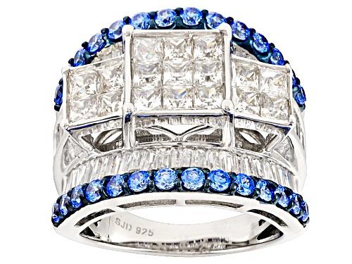 Photo of Bella Luce® Rhodium Over Silver Ring With Arctic Blue Swarovski® Zirconia - Size 5