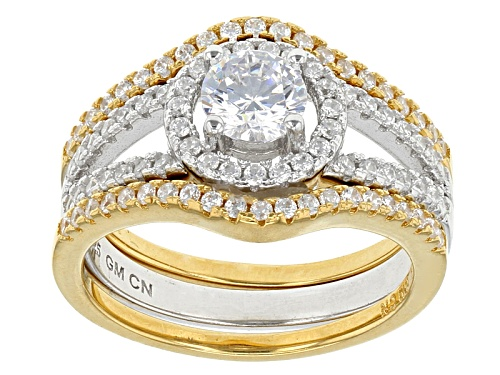 Photo of Bella Luce ® 2.03ctw Rhodium Over Sterling Silver And Eterno™ Yellow Ring With Bands - Size 12