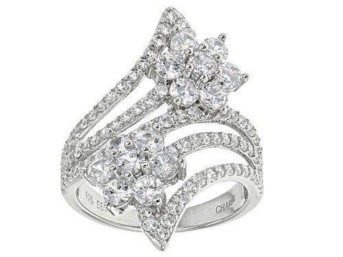 Photo of Bella Luce ® 4.40ctw Diamond Simulant Rhodium Over Sterling Silver Ring (2.44ctw Dew) - Size 7