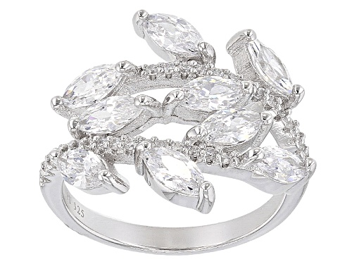 Photo of Bella Luce ® 4.23ctw Diamond Simulant Rhodium Over Sterling Silver Ring(2.55ctw Dew) - Size 7