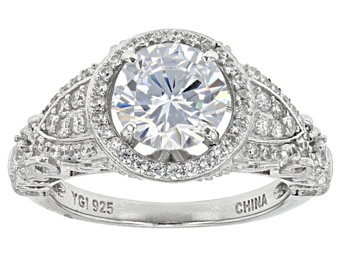 Photo of Bella Luce ® 4.54ctw Rhodium Over Sterling Silver Ring (2.61ctw Dew) - Size 10