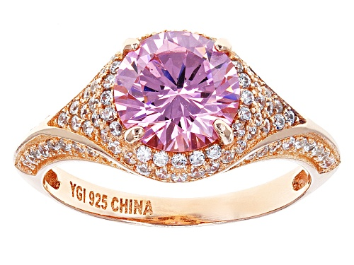 Photo of Bella Luce ® 4.36ctw Pink And White Diamond Simulants Eterno ™ Rose Ring (2.54ctw Dew) - Size 10