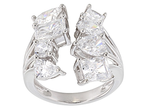 Photo of Bella Luce ® 8.53ctw Diamond Simulant Rhodium Over Sterling Silver Ring(5.00ctw Dew) - Size 8