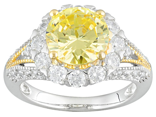 Photo of Bella Luce ® 6.29ctw Diamond Simulants Rhodium Over Sterling & 18k Yellow Gold Accent Plating Ring - Size 5
