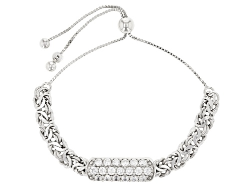 Photo of Bella Luce ® 3.60ctw Diamond Simulant Rhodium Over Sterling Silver Sliding Adjustable Bracelet