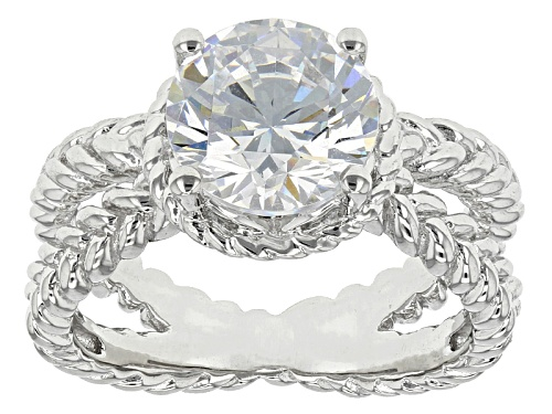 Photo of Bella Luce ® 4.68ctw Diamond Simulant Rhodium Over Sterling Silver Ring (2.75ctw Dew) - Size 7