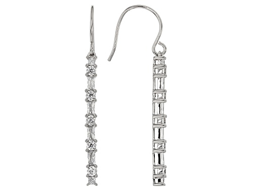 Photo of Bella Luce ® 3.04ctw Diamond Simulant Rhodium Over Sterling Silver Earrings (2.16ctw Dew)