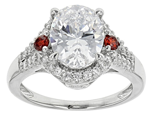 Photo of Bella Luce ® 4.95ctw White Diamond And Spessartite Simulants Rhodium Over Sterling Silver Ring - Size 10