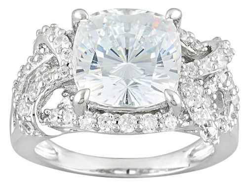 Photo of Bella Luce ® 8.62ctw Diamond Simulant Rhodium Over Sterling Silver Ring (4.64ctw Dew) - Size 11