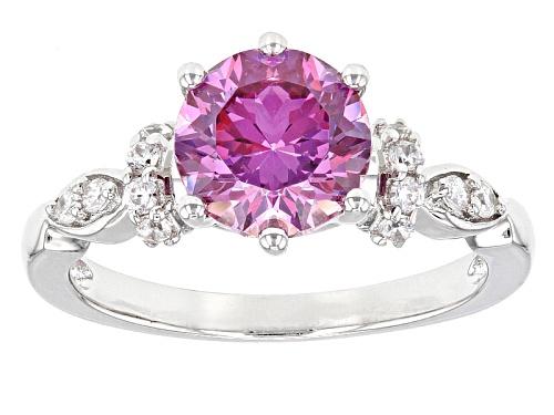 Bella Luce Luxe™Featuring Dahlia Cut Fancy Purple Zirconia From Swarovski® Rhodium Over Silver Ring - Size 7