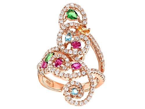 Photo of Bella Luce ® 4.33ctw Multicolor Gemstone Simulants Eterno ™ Rose Ring - Size 5