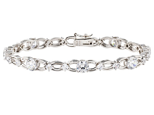 Photo of Bella Luce ® 12.81ctw White Diamond Simulant Rhodium Over Sterling Silver Bracelet (9.07ctw Dew) - Size 8