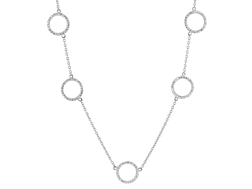 Photo of Bella Luce ® 1.43ctw Rhodium Over Sterling Silver Necklace (.87ctw Dew) - Size 18