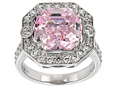 Photo of Bella Luce®14.58ctw Pink & White Diamond Simulants Rhodium Over Sterling Silver Ring (8.33ctw Dew) - Size 7