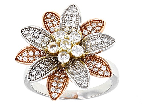 Photo of Bella Luce ®1.89ctw Rhodium Over Sterling Silver And Eterno ™ Rose And Yellow Ring(1.16ctw Dew) - Size 6