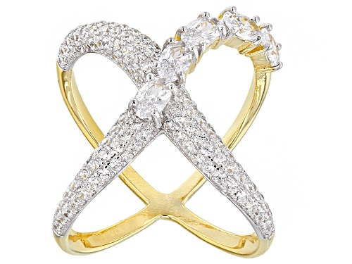 Photo of Bella Luce ® 2.88ctw Rhodium Over Sterling Silver And Eterno ™ Yellow Ring (1.61ctw Dew) - Size 6