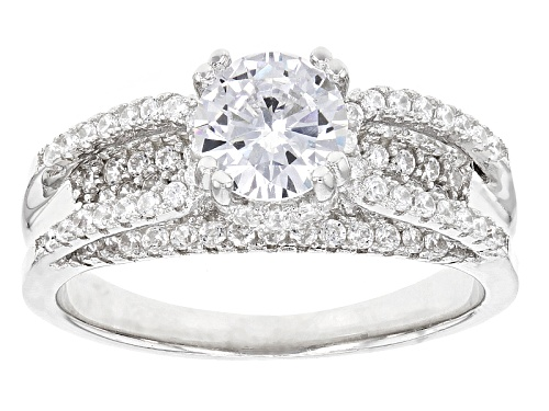 Photo of Bella Luce ® 2.94ctw Rhodium Over Sterling Silver Ring (1.82ctw Dew) - Size 10