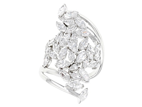 Bella Luce ® 4.92ctw Rhodium Over Sterling Silver Ring (4.10ctw Dew) - Size 8