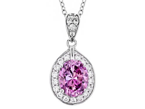 Photo of Bella Luce ® Rhodium Over Sterling Pendant With Chain With Fancy Purple Swarovski® Zirconia