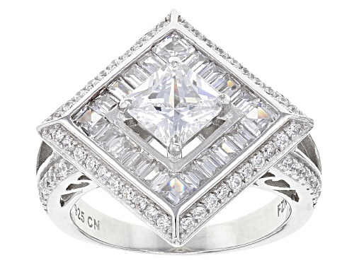 Photo of Bella Luce ® 6.24ctw Rhodium Over Sterling Silver Ring (2.80ctw Dew) - Size 5