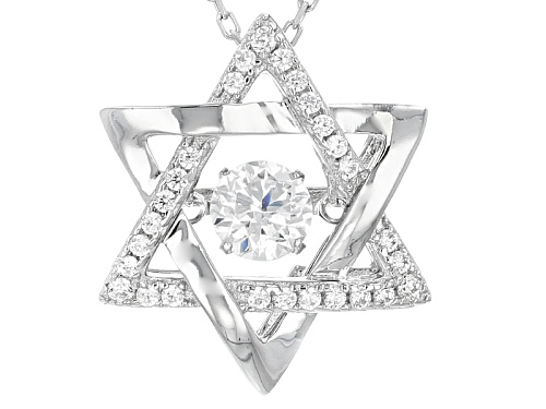 """Photo of Bella Luce®1.09ctw Rhodium Over Sterling Star Of David """"Dancing Bella"""" Pendant With Chain"""