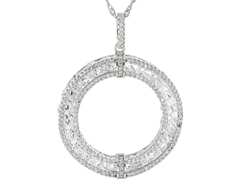 Photo of Bella Luce ® 16.58ctw Rhodium Over Sterling Silver Pendant With Chain (10.06ctw Dew)