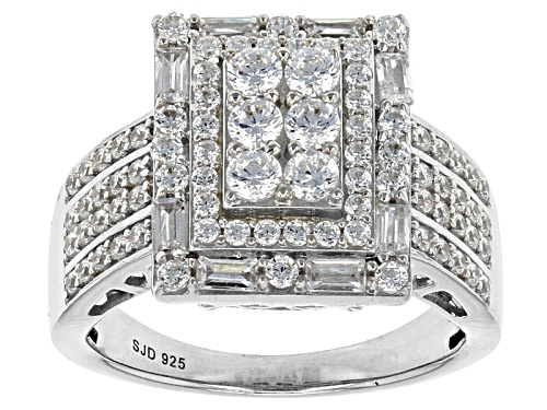 Photo of Bella Luce ® 2.77ctw White Diamond Simulant Rhodium Over Sterling Silver Ring (1.40ctw Dew) - Size 12