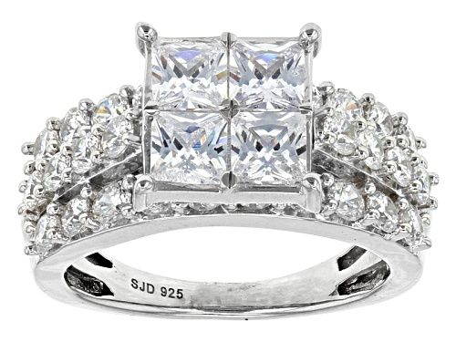 Photo of Bella Luce ® 5.14ctw White Diamond Simulant Rhodium Over Sterling Silver Ring (2.68ctw Dew) - Size 10