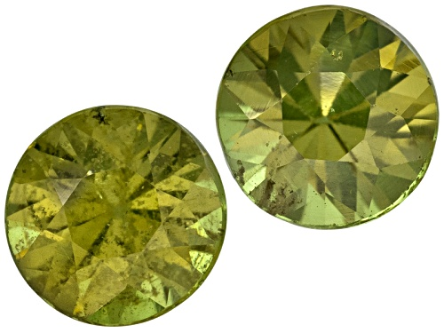 Photo of Demantoid Garnet Matched Pair Of Avg 1.30ctw 5mm Round