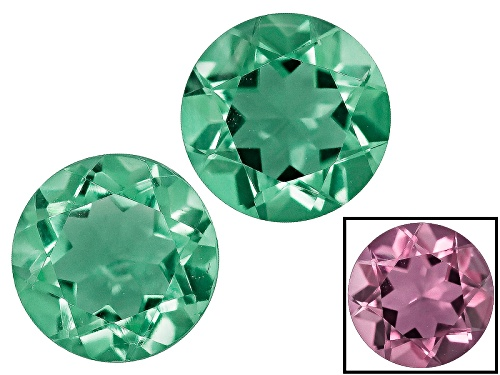 Photo of Zandrite® Color Change Green To Pink Matched Pair Of Avg 1.45ctw 6mm Round