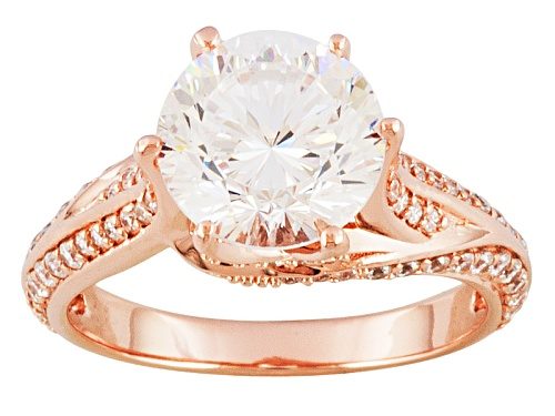 Photo of Bella Luce ® Dillenium Cut 5.53ctw, 18k Rose Gold Over Sterling Silver Ring - Size 8