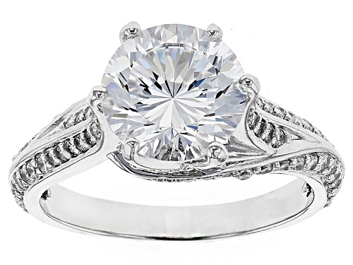 Photo of Bella Luce ® Dillenium Cut 5.53ctw, Rhodium Over Sterling Silver Ring - Size 8