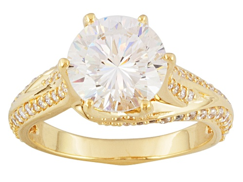 Photo of Bella Luce ® Dillenium Cut 5.53ctw, 18k Yellow Gold Over Sterling Silver Ring - Size 9