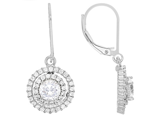 Photo of Bella Luce® Dillenium 3.32ctw Round Rhodium Over Sterling Silver Earrings