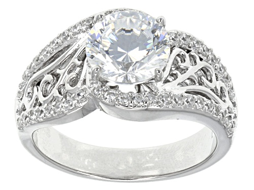Photo of Bella Luce ® Dillenium Cut 4.04ctw Round Rhodium Over Sterling Silver Ring - Size 8
