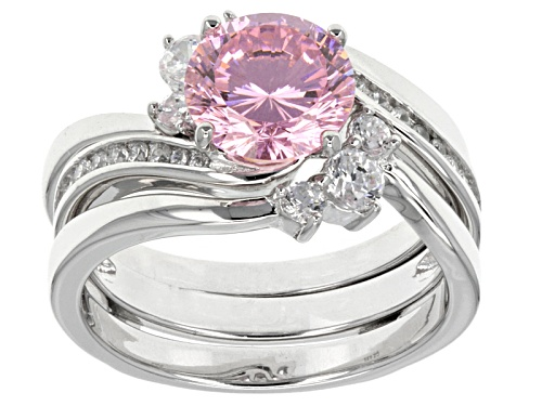 Photo of Bella Luce ® Dillenium Cut 4.33ctw Rhodium Over Sterling Silver Ring With Guard (2.58ctw Dew) - Size 12