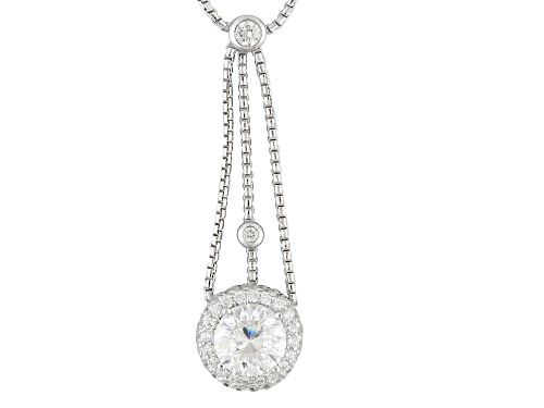 Photo of Bella Luce ® Dillenium Cut 3.06ctw Round Rhodium Over Sterling Silver Necklace - Size 17