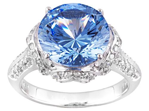 Photo of Bella Luce ® Dillenium Cut 6.35ctw Round Rhodium Over Silver Ring (5.71ctw Dew) - Size 11