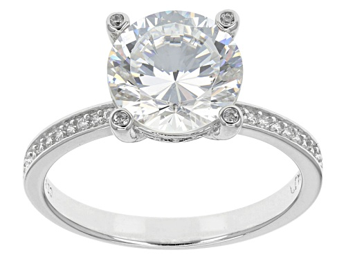 Photo of Bella Luce ® Dillenium Cut 4.94ctw Round Rhodium Over Silver Ring (2.97ctw Dew) - Size 8
