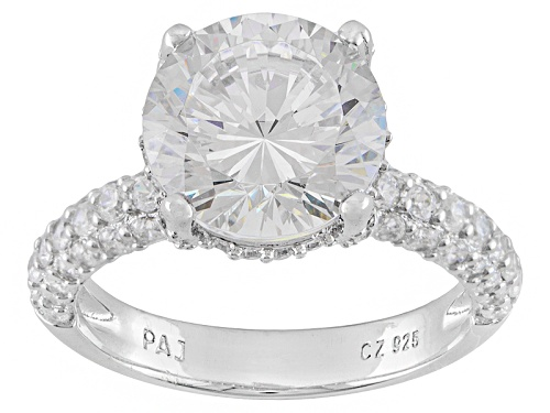 Photo of Bella Luce ® Dillenium Cut 6.01ctw Round Rhodium Over Sterling Silver Ring (3.63ctw Dew) - Size 10
