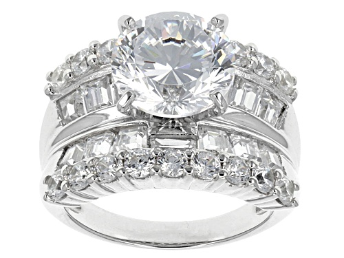Photo of Bella Luce ® Dillenium Cut 10.50ctw Rhodium Over Sterling Silver Ring (5.38ctw Dew) - Size 8