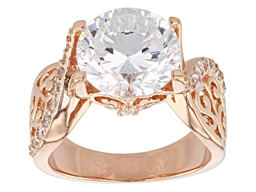 Photo of Bella Luce ® Dillenium Cut 6.50ctw Round Eterno ™ Rose Ring (4.16ctw Dew) - Size 10
